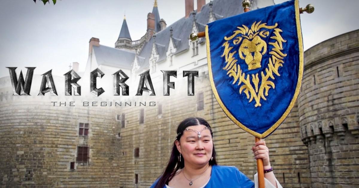 Étendard de l'Alliance du film Warcraft brodé par Mee Yung