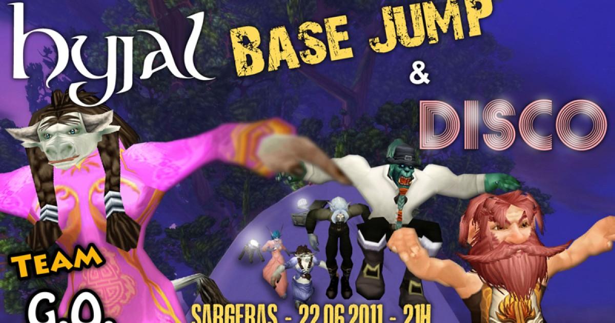 Base jump et soirée disco